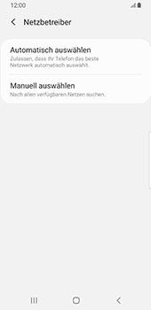 Samsung Galaxy S9 - Android Pie - Netzwerk - Manuelle Netzwerkwahl - Schritt 7