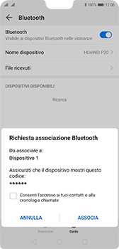 Huawei P20 - Android Pie - Bluetooth - Collegamento dei dispositivi - Fase 7