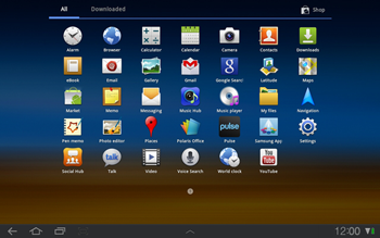 Samsung P7500 Galaxy Tab 10-1 - Internet - Manual configuration - Step 3