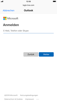 Apple iPhone 8 Plus - iOS 12 - E-Mail - Konto einrichten (outlook) - Schritt 6