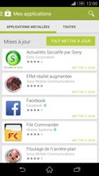 Sony Xperia Z3 Compact - Applications - Comment vérifier les mises à jour des applications - Étape 6