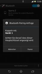 Sony Xperia Z - Bluetooth - Verbinden von Geräten - Schritt 7