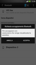 HTC One - Bluetooth - Collegamento dei dispositivi - Fase 8