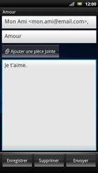Sony Xperia Neo - E-mail - Envoi d