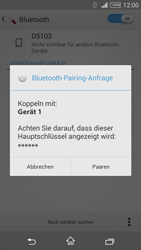 Sony Xperia T3 - Bluetooth - Geräte koppeln - 0 / 0