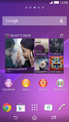 Sony Xperia Z2 - Applications - Setting up the application store - Step 1