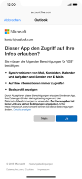 Apple iPhone XR - E-Mail - Konto einrichten (outlook) - 8 / 12