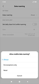 Xiaomi RedMi Note 7 - Internet and data roaming - Disabling data roaming - Step 6
