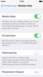 Apple iPhone 5 iOS 7 - Internet und Datenroaming - Prüfen, ob Datenkonnektivität aktiviert ist - Schritt 5