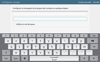 Samsung T805 Galaxy Tab S - E-mail - configuration manuelle - Étape 6