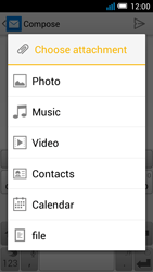 Alcatel OT-5036X Pop C5 - E-mail - Sending emails - Step 11