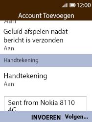 Nokia 8110 - E-mail - handmatig instellen - Stap 15