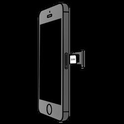 Apple iPhone 5S mit iOS 8 - SIM-Karte - Einlegen - Schritt 4