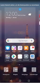 Huawei P20 Pro - Startanleitung - Installieren von Widgets und Apps auf der Startseite - Schritt 5