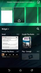 HTC One M8 - Operazioni iniziali - Installazione di widget e applicazioni nella schermata iniziale - Fase 5