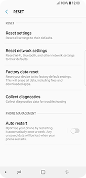 Samsung Galaxy S9 - Mobile phone - Resetting to factory settings - Step 6