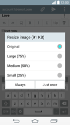 LG G3 (D855) - E-mail - Sending emails - Step 18