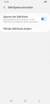Samsung Galaxy S9 - Android Pie - Startanleitung - So aktivieren Sie eine SIM-PIN - Schritt 9