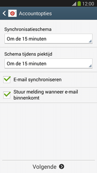 Samsung N9005 Galaxy Note III LTE - E-mail - Account instellen (POP3 zonder SMTP-verificatie) - Stap 17