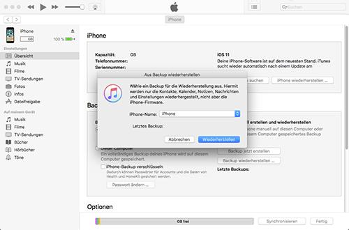 Apple iPhone 6 - Software - Sicherungskopie Ihrer Daten erstellen - 1 / 1