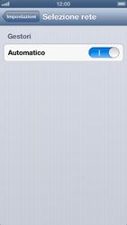 Apple iPhone 5 - Rete - selezione manuale della rete - Fase 6