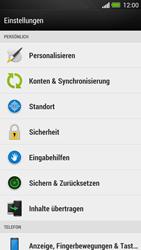 HTC One - Gerät - Zurücksetzen auf die Werkseinstellungen - Schritt 4