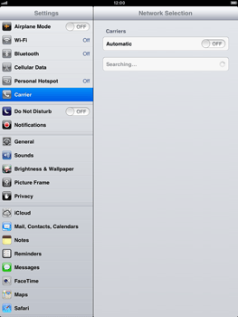Apple iPad Retina - Network - manual network selection - Step 7