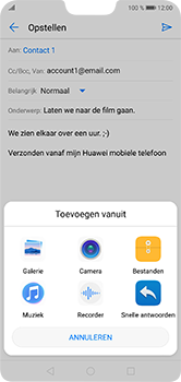 Huawei P20 Lite - E-mail - hoe te versturen - Stap 10