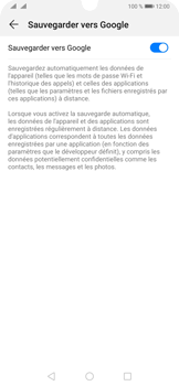 Huawei P30 Pro - Données - Créer une sauvegarde avec votre compte - Étape 7