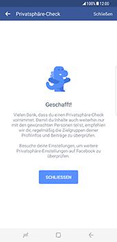 Samsung Galaxy S8 Plus - Datenschutz und Sicherheit - Datenschutzeinstellungen von Facebook ändern - 19 / 35