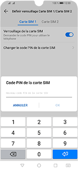 Huawei Y6 (2019) - Sécuriser votre mobile - Personnaliser le code PIN de votre carte SIM - Étape 11