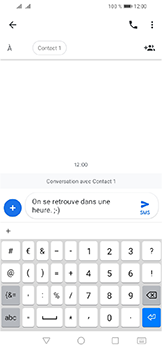 Huawei Y6 (2019) - Contact, Appels, SMS/MMS - Envoyer un SMS - Étape 9