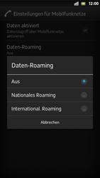 Sony Xperia S - Internet und Datenroaming - Deaktivieren von Datenroaming - Schritt 7