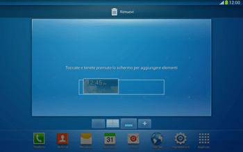 Samsung Galaxy Tab 3 10-1 LTE - Operazioni iniziali - Installazione di widget e applicazioni nella schermata iniziale - Fase 8