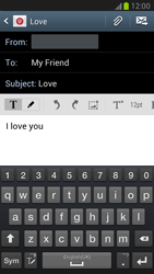 Samsung N7100 Galaxy Note II - E-mail - Sending emails - Step 9