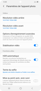 Samsung Galaxy S20 - Photos, vidéos, musique - Créer une vidéo - Étape 8
