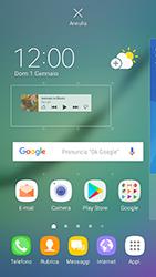 Samsung Galaxy S6 Edge - Android Nougat - Operazioni iniziali - Installazione di widget e applicazioni nella schermata iniziale - Fase 6