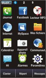Samsung S5620 Monte - Messagerie vocale - configuration manuelle - Étape 3