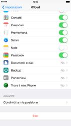 Apple iPhone 6 Plus iOS 8 - Applicazioni - configurazione del servizio Apple iCloud - Fase 10