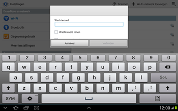Samsung N8000 Galaxy Note 10-1 - Wifi - handmatig instellen - Stap 6