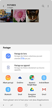 Samsung Galaxy A7 2018 - Photos, vidéos, musique - Envoyer une photo via Bluetooth - Étape 12