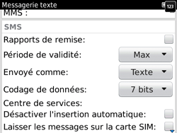 BlackBerry 9780 Bold - SMS - Configuration manuelle - Étape 5