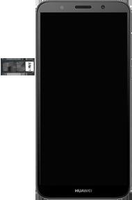 Huawei Y5 (2018) - Premiers pas - Insérer la carte SIM - Étape 5