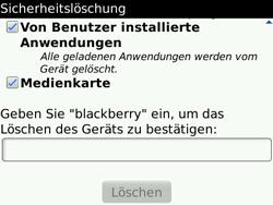 BlackBerry Bold - Fehlerbehebung - Handy zurücksetzen - 9 / 11