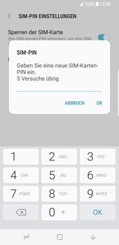 Samsung Galaxy S8 - Datenschutz und Sicherheit - PIN-Code der SIM-Karte ändern - 9 / 12
