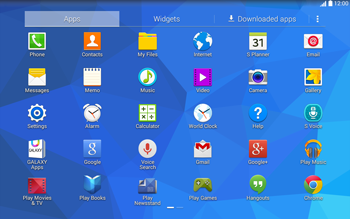 Samsung T535 Galaxy Tab 4 10.1 - Getting started - Installing widgets and applications on your start screen - Step 5