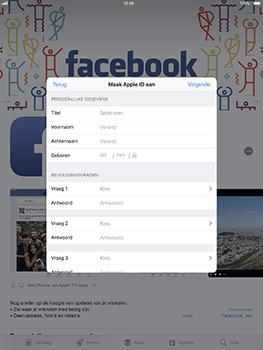 Apple iPad Pro 10.5 inch - iOS 11 - Applicaties - Account aanmaken - Stap 10