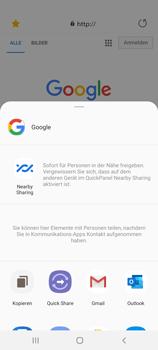 Samsung Galaxy Note 20 5G - Internet und Datenroaming - Verwenden des Internets - Schritt 23