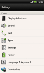 HTC Desire X - Mobile phone - Resetting to factory settings - Step 5
