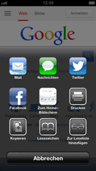Apple iPhone 5 - Internet und Datenroaming - Verwenden des Internets - Schritt 5
